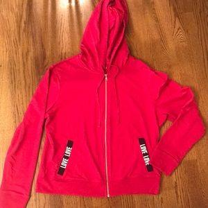 Hot pink Zip up jacket with hood